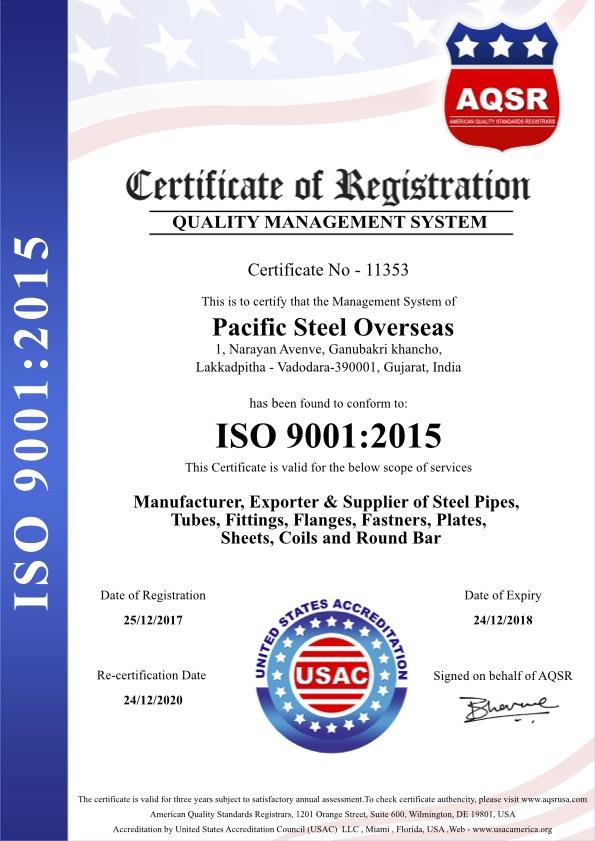 Pacific-Steel-Overseas-ISO-9001-2015