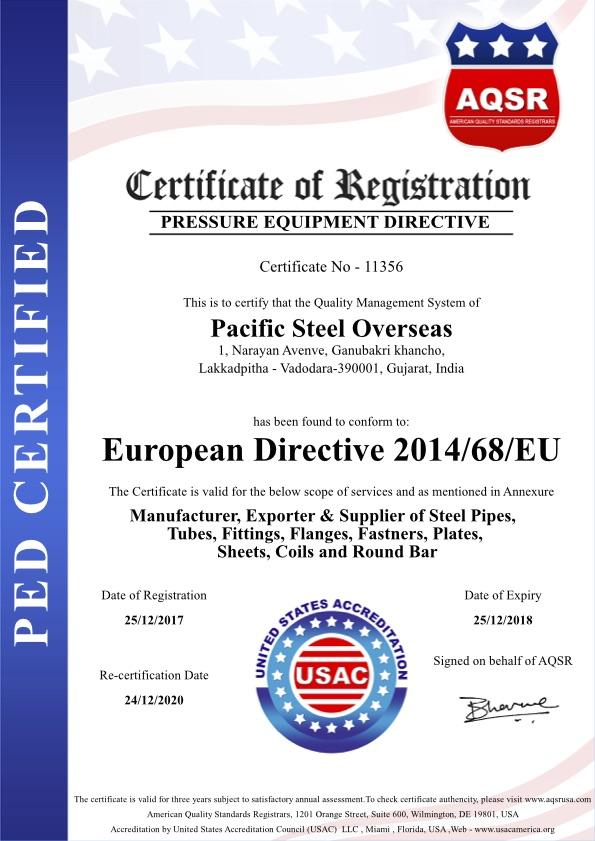 Pacific-steel-Overseas-PED
